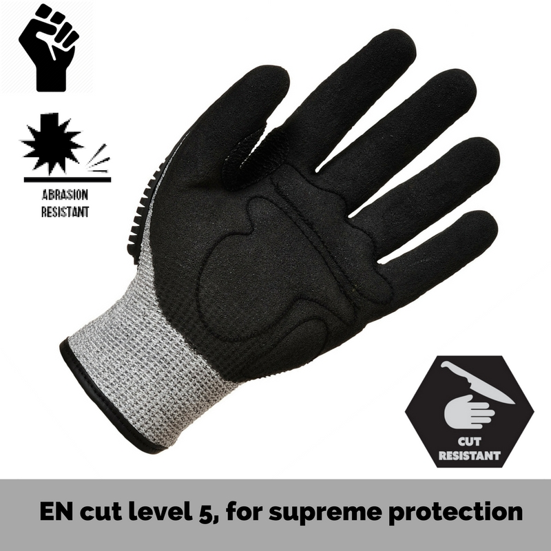 Portwest Level 5 cut resistance anti impact gloves