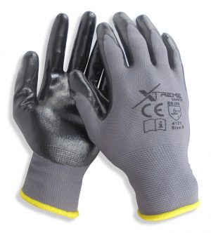 24 Pairs Xtreme Safety Nitrile Palm Gloves