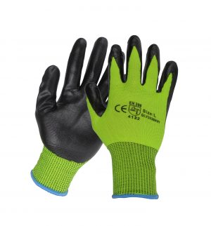 12 Pairs Hi Vis Nitrile Work Gloves