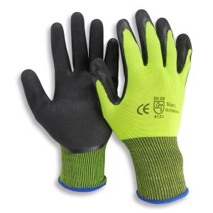 24 Pairs HI VIS Nitrile Palm Safety Gloves