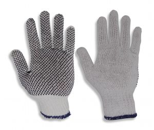 Cotton Poly Gripper Dots Gloves 12 Pairs