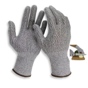 Cut Resistant Elastic Fiber Kitchen Gloves