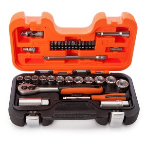 Bahco 34pce 1/4in and 3/8in Drive Metric Socket Set