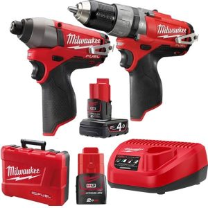 Milwaukee 12V 2PC Cordless M12 Fuel Brushless Combo Kit
