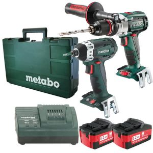 Metabo 18V 2 Pce 5.2Ah Combo Kit