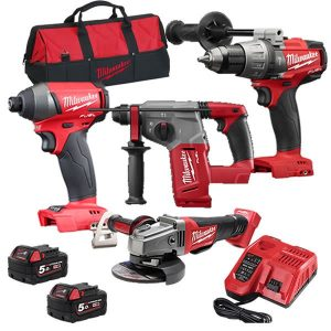 Milwaukee 18V 5.0Ah Cordless Fuel 4pce Combo Kit