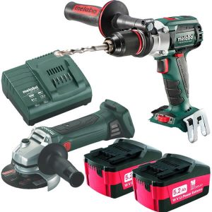 Metabo 18V 5.2Ah 2 Pce Combo Kit