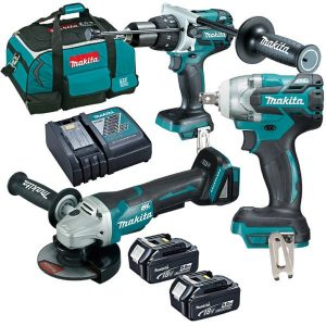 Makita 18V Cordless 5.0Ah Li-Ion 3 Piece Brushless Combo Kit