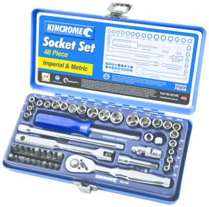 Kincrome 48pce 1/4in Square Drive Metric and Imperial Socket Set