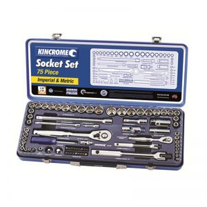 Kincrome 75pce 1/4in and 1/2in Square Drive Metric and Imperial Socket Set
