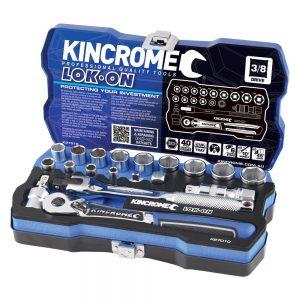 Kincrome Lok-On 19pce 3/8in Square Drive Socket Set
