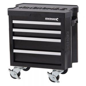 Kincrome Contour Mini Tool Trolley 4 Drawer, Black