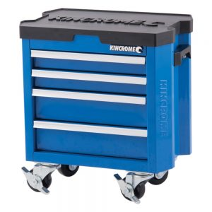Kincrome Contour Mini Tool Box Trolley 4 Drawer, Electric Blue