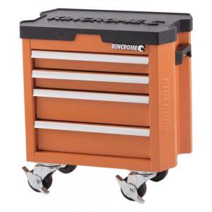 Kincrome Contour Mini Tool Dual Handle Trolley, 4 Drawer – Flame Orange