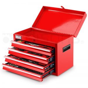 Bullet 319 Piece Tool Kit Chest Red