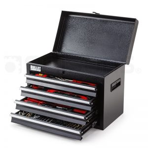 Bullet 319 Piece Tool Kit Chest Black/Grey