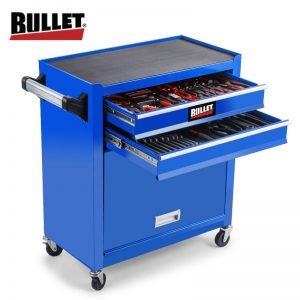 Bullet 881 Piece Tool Cabinet Trolley Blue