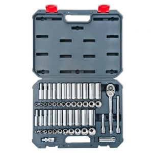 Crescent 52 Pc. 3/8″ 6 & 12 Point SAE/Metric Standard & Deep Socket Wrench Tool Set