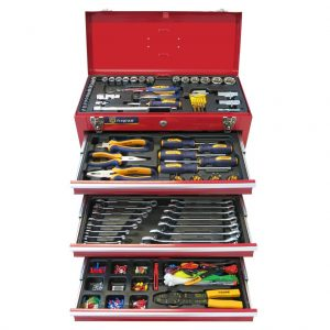 Fragram 446 Piece 1/4″ & 1/2″ Drive Metric Tool Kit in 3 Drawer Lockable Chest