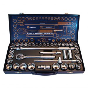 Fragram Tools 41 Piece 1/2″ Drive Metric & SAE Socket Set
