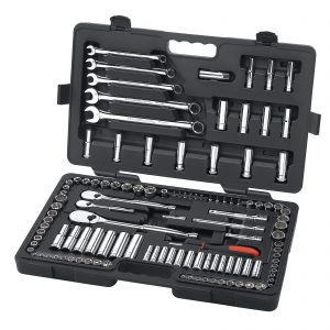 GearWrench 118 Pc. 1/4″, 3/8″ & 1/2″ 6 and 12 Point SAE/Metric Mechanics Tool Set