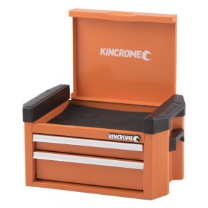 Kincrome Contour Mini Tool Chest 2 Drawer, Flame Orange