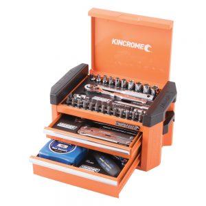 Kincrome Contour Mini Tool Kit 49 Piece 1/4″ Square Drive, Flame Orange
