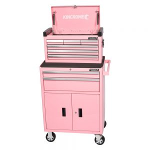 Kincrome Evolve Chest & Trolley Combo, 8 Drawer, Pink