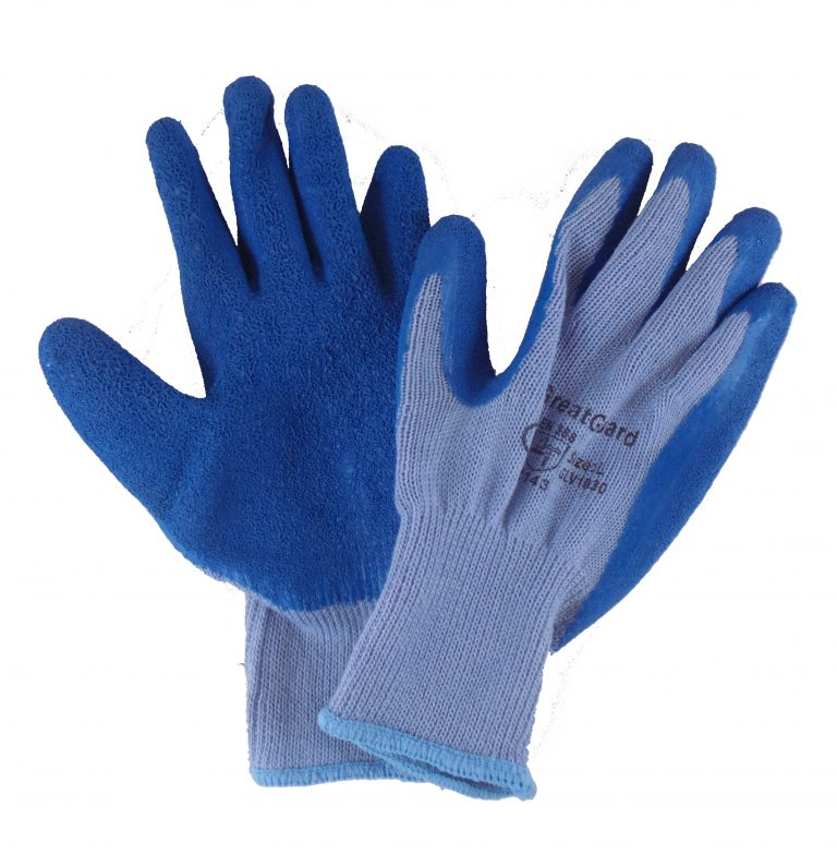Latex Coated Poly Cotton Blend Gloves 12 Pairs