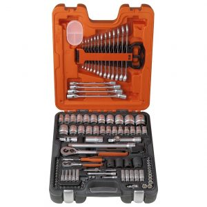 106 Piece 1/4″ and 1/2″ Square Drive Socket and Spanner Set