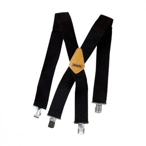 Heavy Duty 50mm Adjustable Suspenders Black