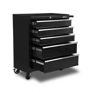 5 Drawers Roller Toolbox Cabinet – Black