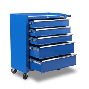 5 Drawers Roller Toolbox Cabinet – Blue