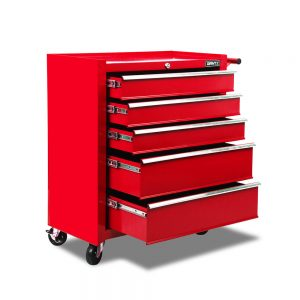 5 Drawers Tool Box Cabinet – Red