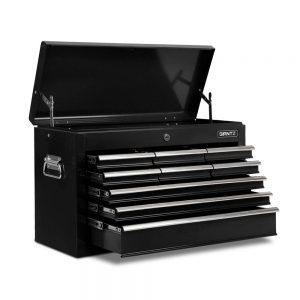 9 Drawers Tool Box Chest – Black/Grey