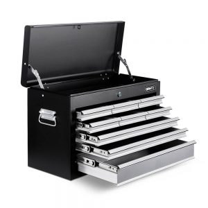 9 Drawers Tool Box Chest – Black/Grey