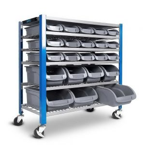 22 Storage Bin Rack With Magnetic Tool Bar