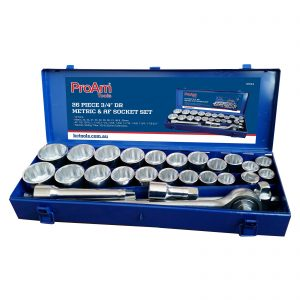 ProAm 3/4″ Drive Metric and Imperial Socket Set 26 Piece