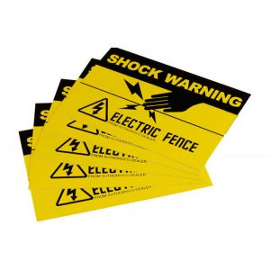 20x Electric Fence Safety Warning Signs