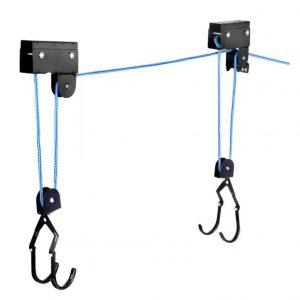 2x Kayak Hoist Ceiling Rack