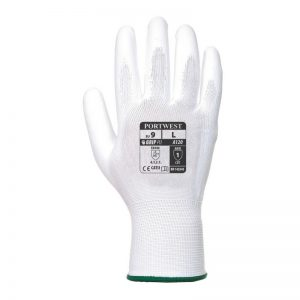 PU Palm Safety Gloves, White