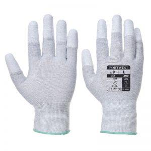 Antistatic PU Fingertip Safety Gloves