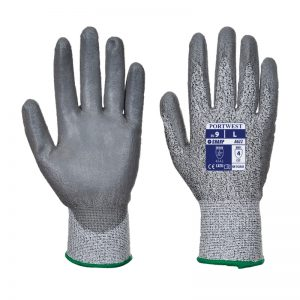 Cut Resistant 5 PU Palm Safety Gloves