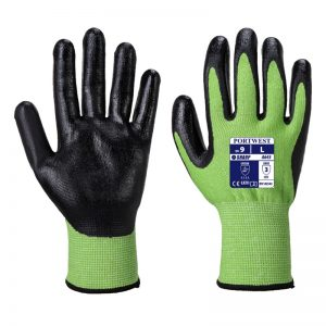 Green Cut Resistant 5 Safety Gloves