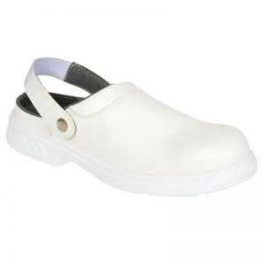 Portwest White Safety Clog