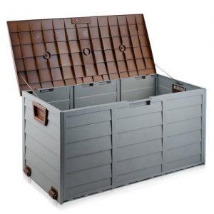 290L Plastic Outdoor Storage Box (Brown/Grey)