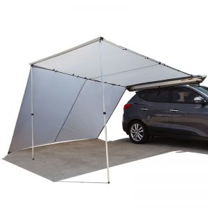 2.5Mx3M Roof Rack Awning and Extension (Silver)