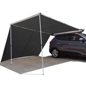 2.5Mx3M Roof Rack Awning and Extension (Charcoal)