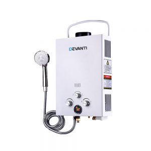 Outdoor Gas Water Heater (White)