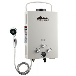 Outdoor Gas Water Heater (Beige)